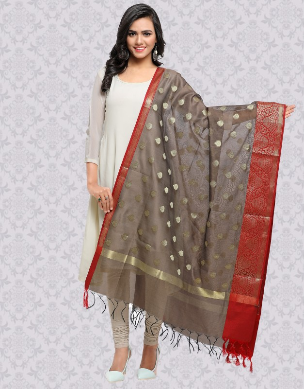 Divastri Raw Silk Woven Women Dupatta