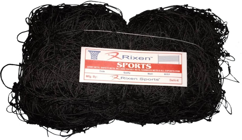 Rixen Heavy Duty 24x6x9 Feet 1 Pail Goal Post Football Net(Black)