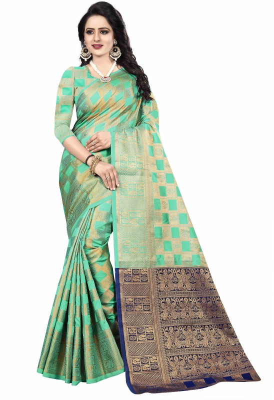 Fancy Fab Woven, Solid, Applique, Paisley, Self Design, Striped, Checkered, Embellished Paithani...