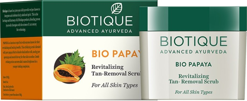 Biotique Bio Papaya Revitalizing Tan-removal Scrub(75 g)