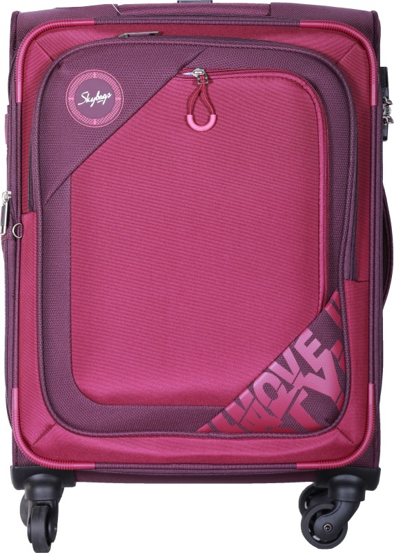 Skybags Zumba Spinner Soft Trolley 58 cm (Purple) Expandable Cabin Luggage - 22 inch(Purple)