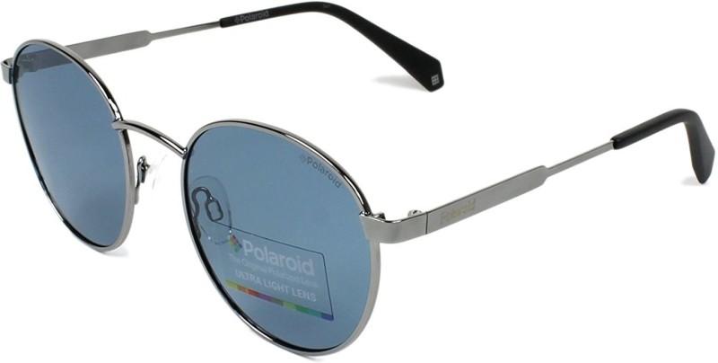 Polaroid Round Sunglasses(Blue)