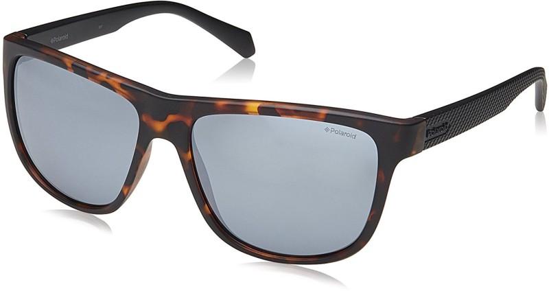 Polaroid Wayfarer Sunglasses(Silver)