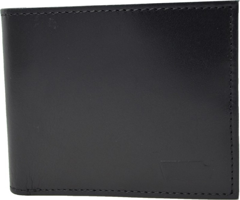 Levis Men Black Genuine Leather Wallet(4 Card Slots)