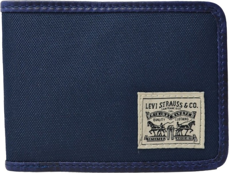 Levis Men Casual Blue Fabric Wallet(6 Card Slots)