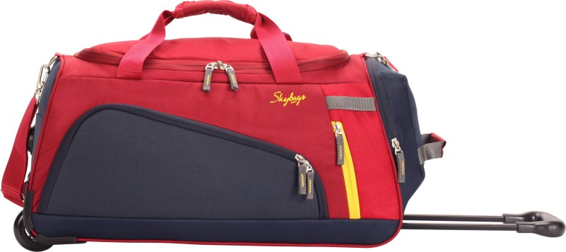Skybags Hatch 57 cm Duffle On Wheel (Red) Duffel Strolley Bag(Red)