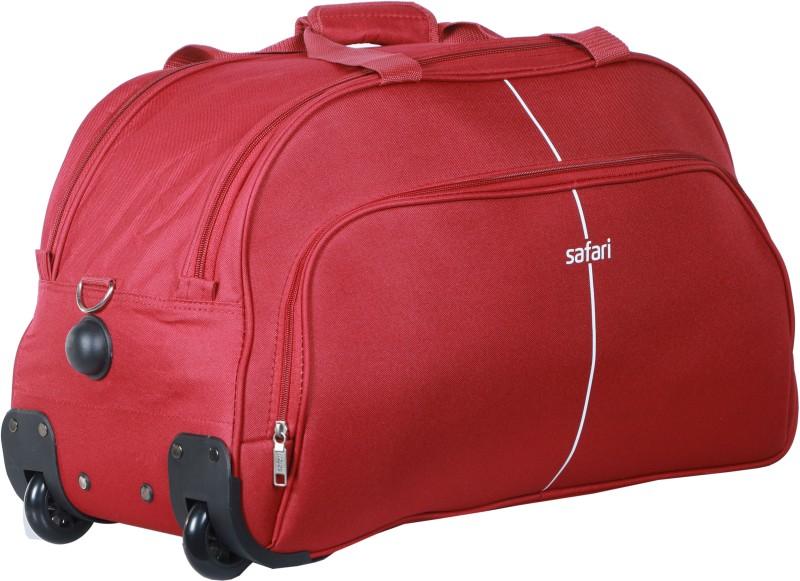 Safari Pulse Duffle on Wheel 55 cm (Red) Duffel Strolley Bag(Red)