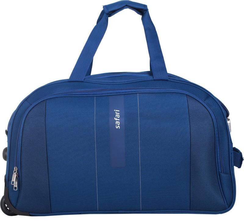 Safari Vertigo-II Wheel On Duffle 55 cm (Blue) Duffel Strolley Bag(Blue)