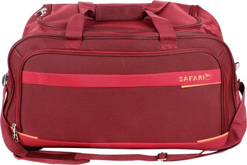 eafb90cd7b Safari Zipp Plus 55 cm Duffle On Wheels (Red) Duffel Strolley Bag(Red