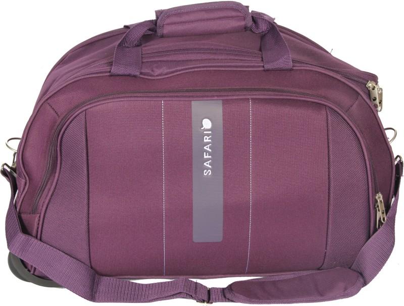 Safari Vertigo II 55 cm Duffle on Wheel (Purple) Duffel Strolley Bag(Purple)