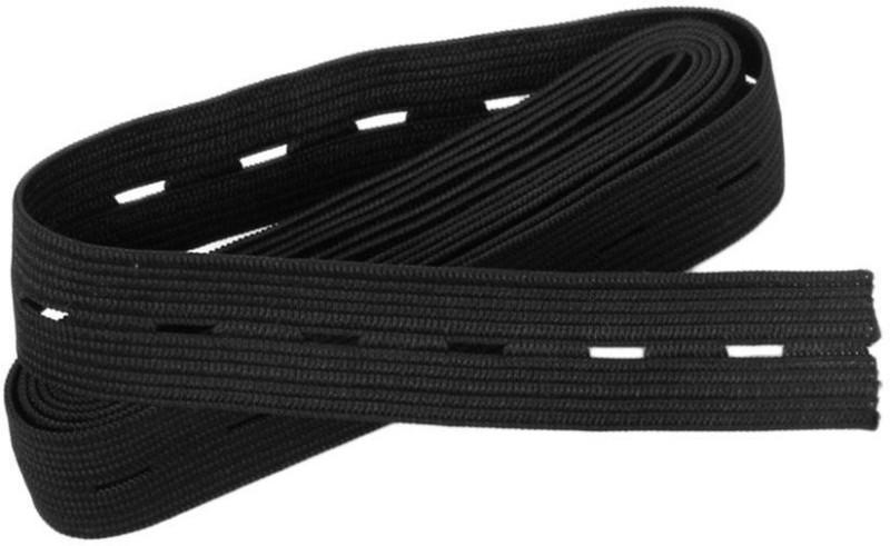 Jainsons Knitted Black Elastic(75 m)