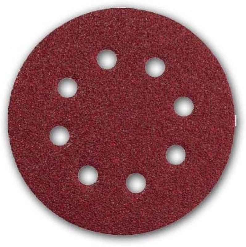 Inditrust 10pc Velcro sanding disc Dia 125mm - P 120 Emery Sandpaper(120 Pack of 10)