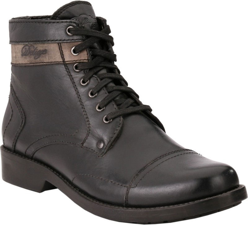 Delize Boots For Men(Black, Beige)