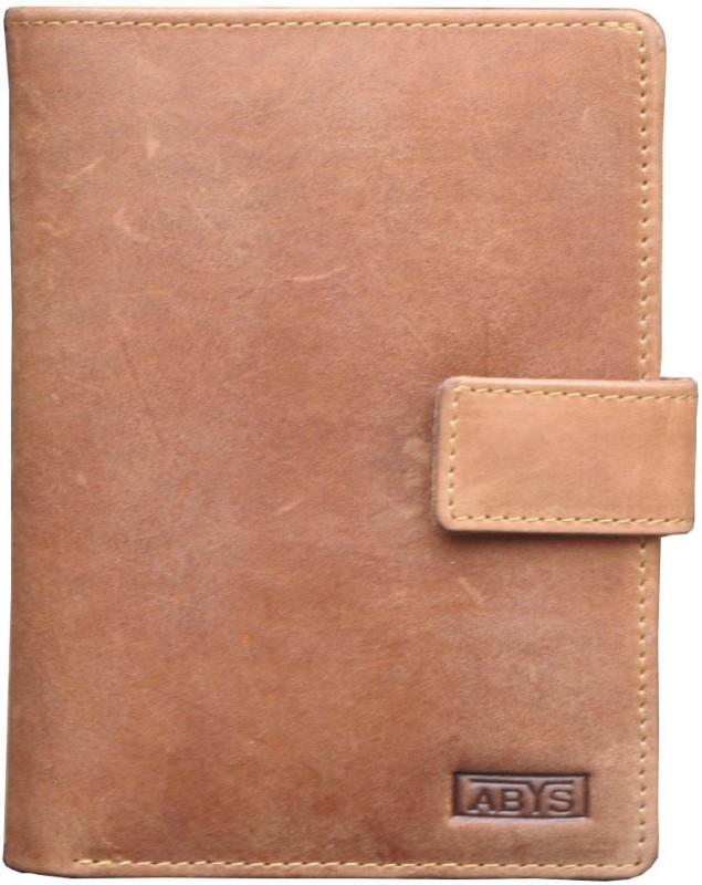 ABYS 100% Hunter Leather Travel Document Holder/Passport Holder/Cheque Book Holder for Men & Women(Tan)