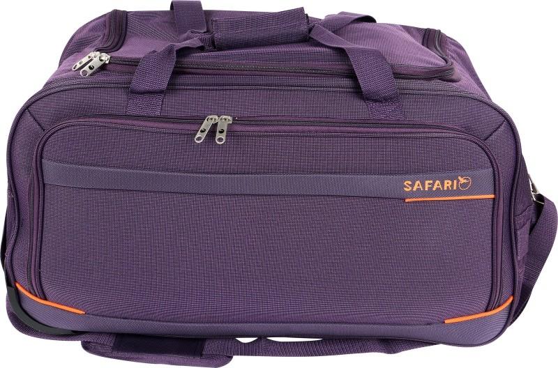 Safari Zipp Plus 55 cm Duffle On Wheel (Blue) Duffel Strolley Bag(Blue)