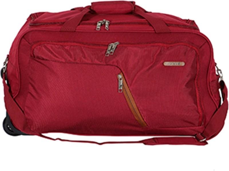 Safari Gradient 55 cm Duffle On Wheels (Red) Duffel Strolley Bag(Red)