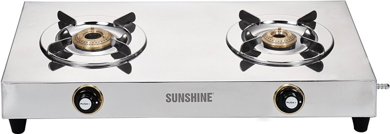 Sunshine VS2 Steel Manual Gas Stove(2 Burners)