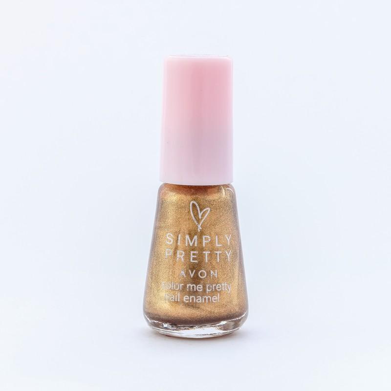 Avon SP Nail Enamel Restage 5ml - Glitter Gold Glitter Gold(5 ml)