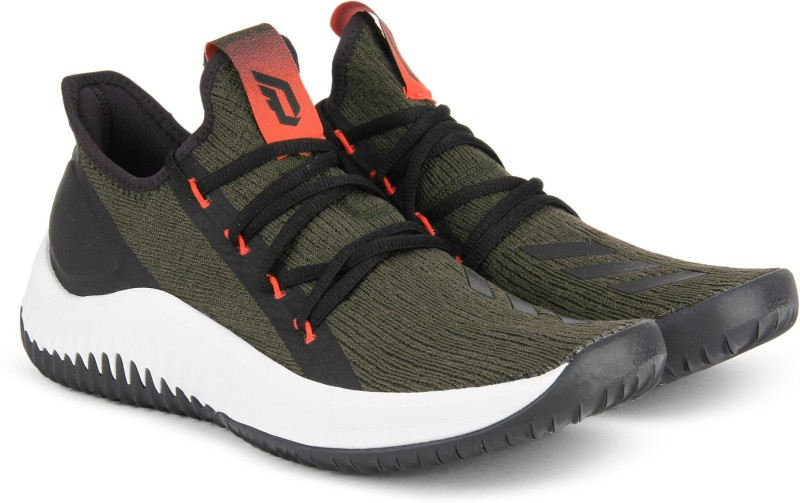 ADIDAS DAME D.O.L.L.A. Basketball Shoes For Men(Olive, Black)