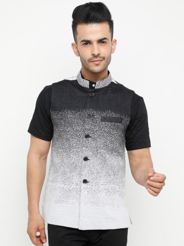 Showoff Sleeveless Printed Mens Jacket