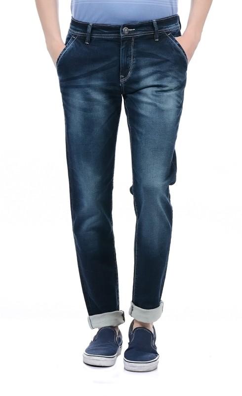Monte Carlo Regular Men Dark Blue Jeans