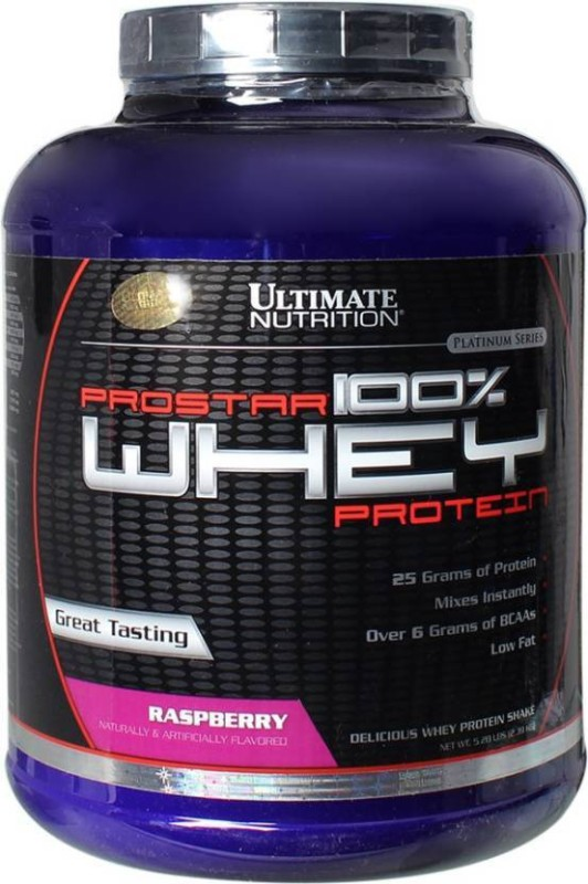 Ultimate Nutrition Prostar 100% Whey Protein(2.39 kg, Raspberry)