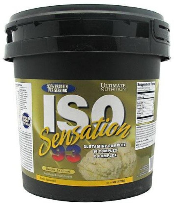 Ultimate Nutrition Iso sensation 93 Whey Protein(2.27 kg, Banana, Ice Cream)