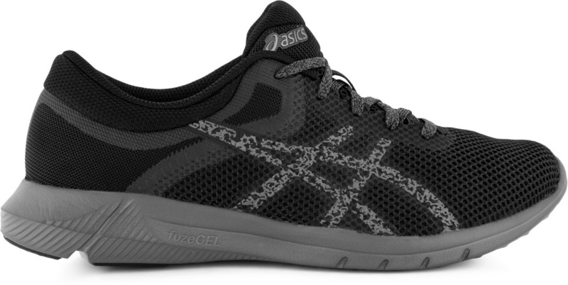 Asics Nitrofuze 2 All Surface Women's Running Shoes, Carbon/Black/Carbon - 6 US Casuals For Women(Grey, Black)