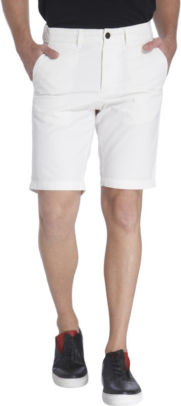 Jack & Jones Solid Men's White Chino Shorts