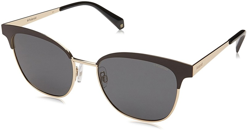 Polaroid Clubmaster Sunglasses(Grey)