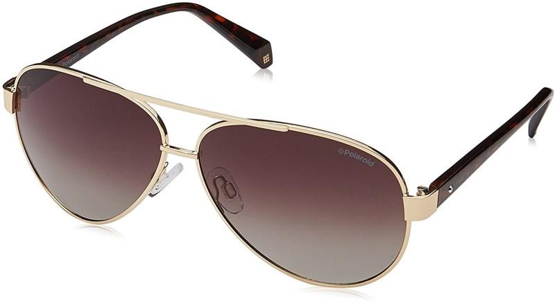 Polaroid Aviator Sunglasses(Brown)