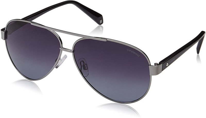 Polaroid Aviator Sunglasses(Grey)