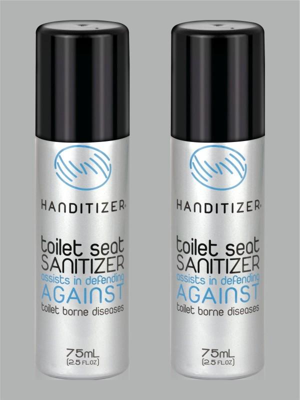 handitizer Toilet Seat Sanitizer Regular Spray Toilet Cleaner(150 ml, Pack of 2)