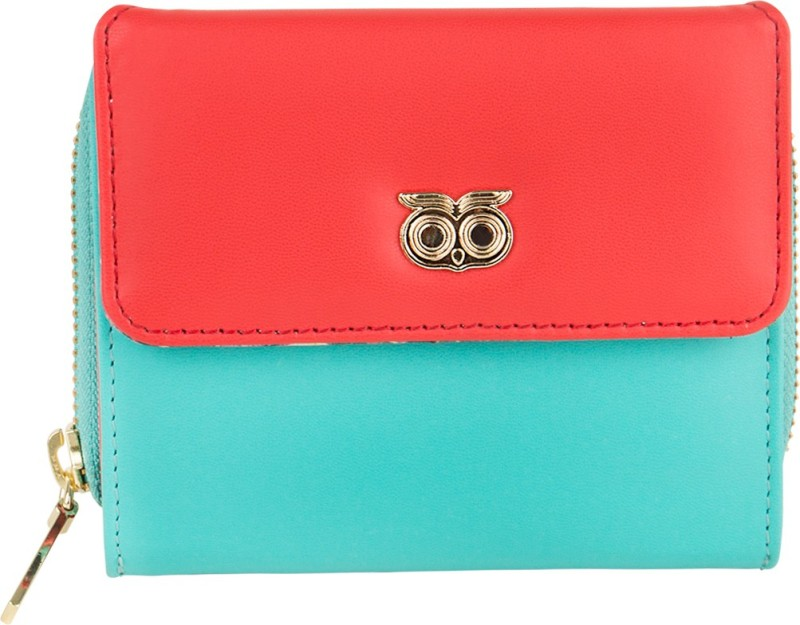 Chumbak Women Casual Blue, Red Canvas Wallet(5 Card Slots)
