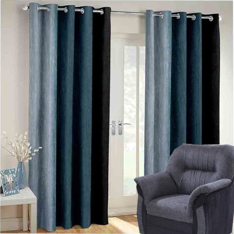 check MRP of dark grey curtains G S COLLECTIONS