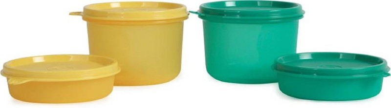 Tupperware Executive 2 small and 2 large container 4 Containers Lunch Box(1000 ml)