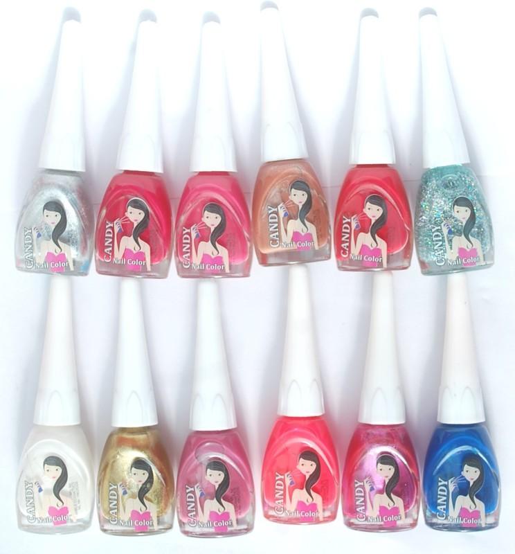 Ramble Nail Polish Candy Set 04 Multicolor(72 ml, Pack of 12)