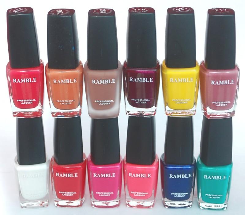 Ramble Nail Polish Set 09 Multicolor(96 ml, Pack of 12)