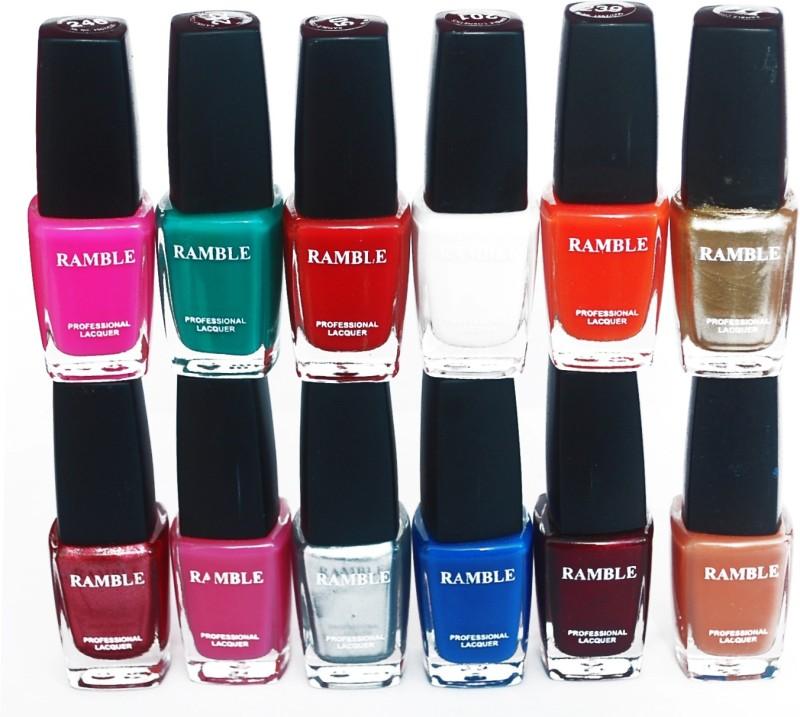 Ramble Nail Polish Set 11 Multicolor(96 ml, Pack of 12)