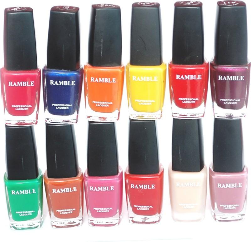 Ramble Nail Polish Set 06 Multicolor(96 ml, Pack of 12)