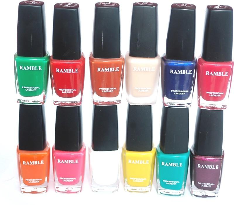 Ramble Nail Polish Set 03 Multicolor(96 ml, Pack of 12)