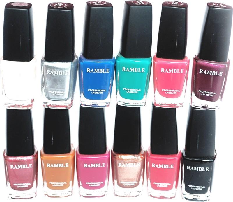 Ramble Nail Polish Set 05 Multicolor(Pack of 12)