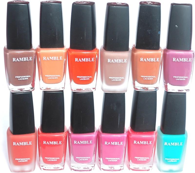 Ramble Nail Polish Set 04 Multicolor(96 ml, Pack of 12)