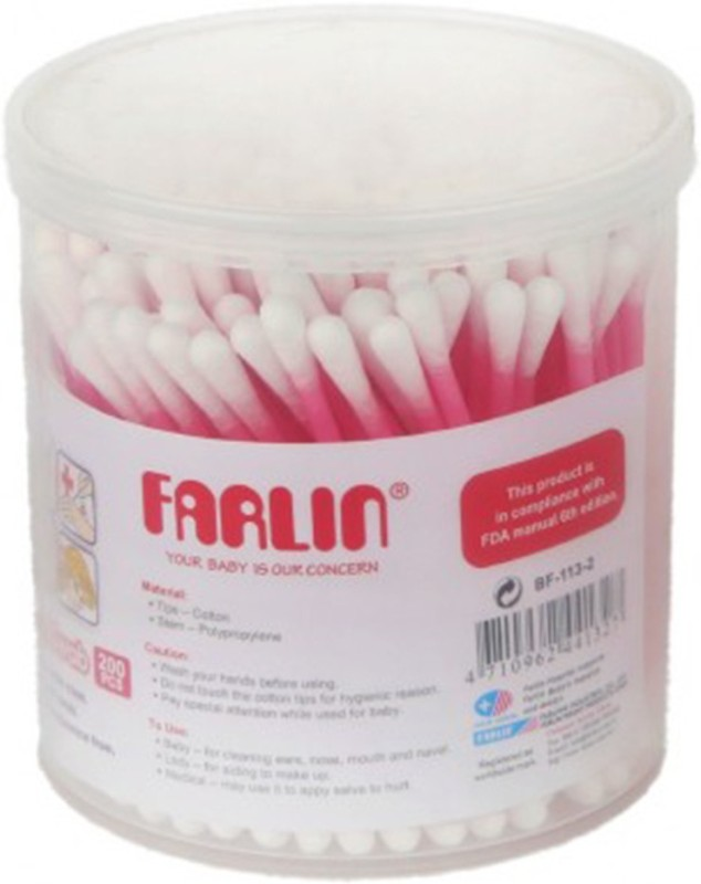 Farlin 200 Piece Paper Stem Buds-Pink(200 Units)