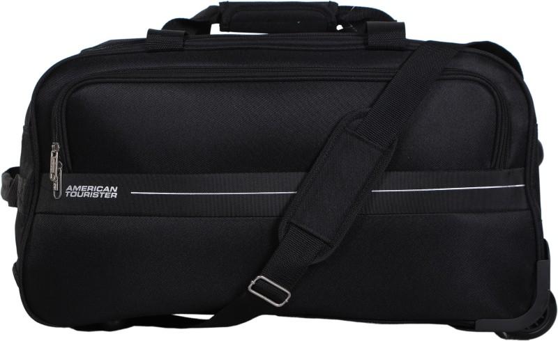 American Tourister Marco Duffle on Wheel 64 cm (Black) Travel Duffel Bag(Black)
