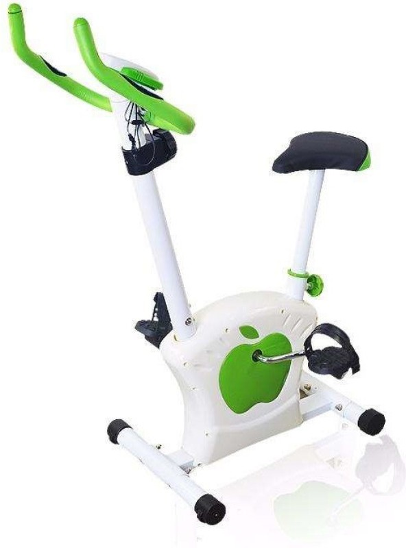 Iris Fitness Magnetic Upright Stationary Exercise Bike(Green, White)