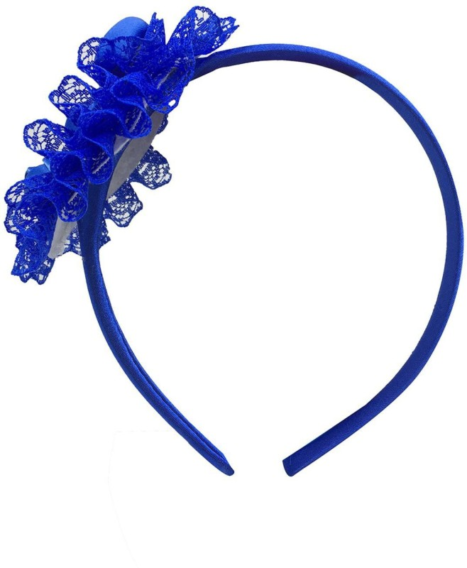 Stoln Stoln Kids Hair Accessory Daily wear / Party wear Net Flower Hair Band-Blue Hair Band(Blue)