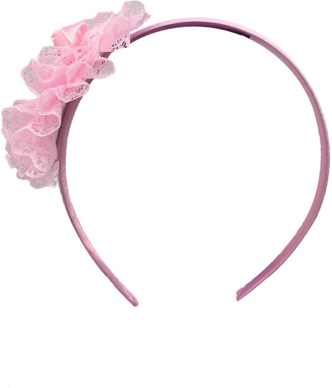 Stoln Stoln Kids Hair Accessory Daily wear / Party wear Net Flower Hair Band-Light Pink Hair Band(Pink)