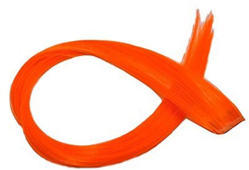 AASA Extension Orange Colour with Clip in Straight 1Pcs Hair Extension