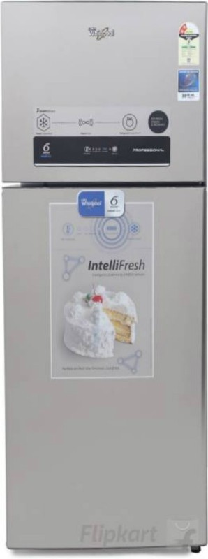 Whirlpool 340 L Frost Free Double Door 2 Star Refrigerator(Alpha Steel, IF 355 ELT 2S)